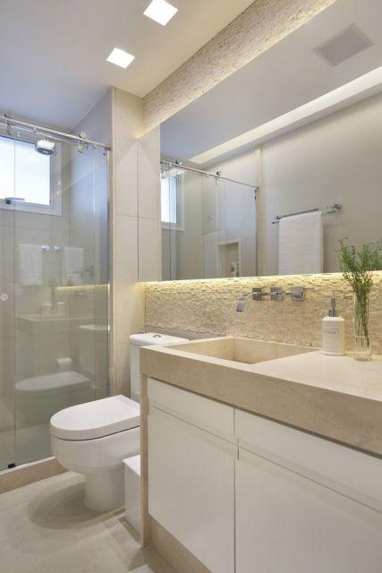 70 BANHEIROS MODERNOS IMPERDÍVEIS! Fotos e Dicas -> Armario Para Banheiro Pequeno Casas Bahia