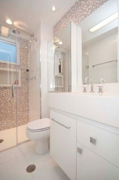 70 BANHEIROS MODERNOS IMPERDÍVEIS! Fotos e Dicas -> Banheiros Modernos Pastilhados