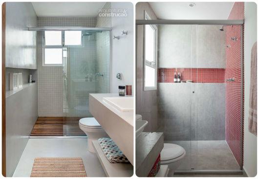 70 BANHEIROS MODERNOS IMPERDÍVEIS! Fotos e Dicas # Banheiro Decorado Com Cimento Queimado