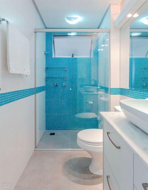 70 BANHEIROS MODERNOS IMPERDÍVEIS! Fotos e Dicas -> Banheiros Modernos Azul