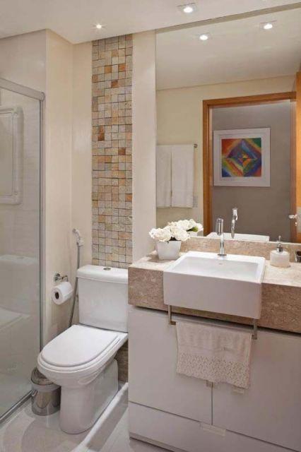 70 BANHEIROS MODERNOS IMPERDÍVEIS! Fotos e Dicas -> Banheiro Pequeno Projeto