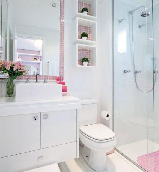 70 BANHEIROS MODERNOS IMPERDÍVEIS! Fotos e Dicas -> Fotos De Banheiro Social Simples
