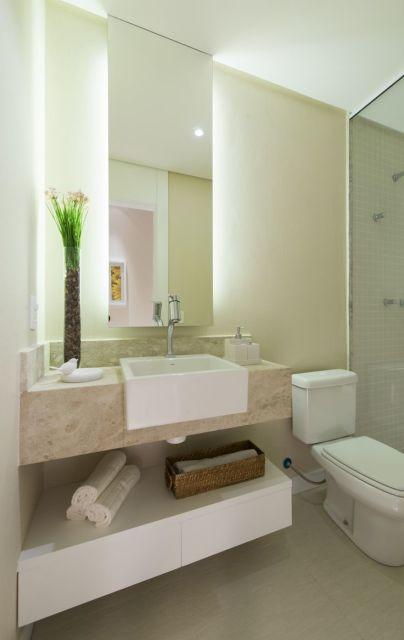 70 BANHEIROS MODERNOS IMPERDÍVEIS! Fotos e Dicas -> Banheiro Estilo Moderno