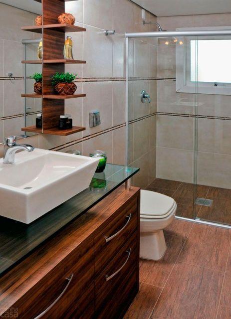 bancada vidro banheiro