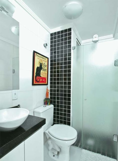 70 BANHEIROS MODERNOS IMPERDÍVEIS! Fotos e Dic -> Fotos De Banheiro Bem Simples