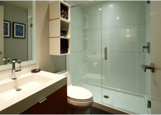 70 BANHEIROS MODERNOS IMPERDÍVEIS! Fotos e Dicas -> Nichos Banheiros Modernos