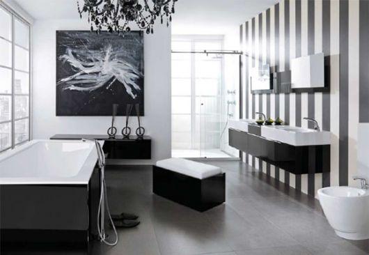 banheiro moderno com toque contemporâneo