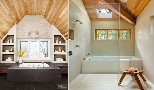 banheiros modernos rústicos