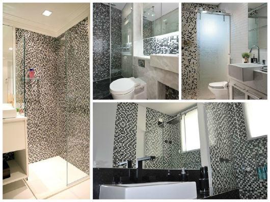 Decoração De Banheiro Preto E Branco Decoração De Banheiro Preto Pictures to  -> Decoracao De Banheiro Preto E Branco Com Pastilhas