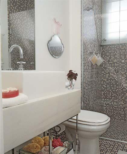 #474574 BANHEIRO PRETO E BRANCO 45 Estilos e Fotos 421x510 px Banheiro Simples Preto E Branco 2018 3799