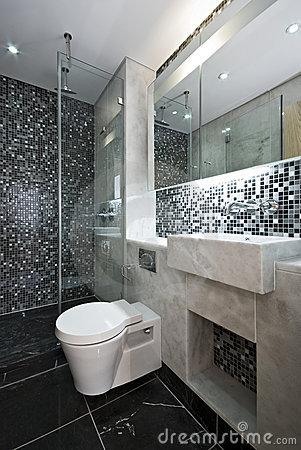 #474708 BANHEIRO PRETO E BRANCO 45 Estilos e Fotos 301x450 px Banheiro Simples Preto E Branco 2018 3799