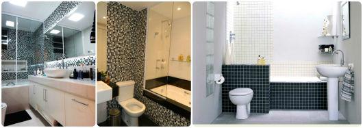 BANHEIRO PRETO E BRANCO 45 Estilos e Fotos! -> Como Se Chama Banheiro Com Banheira
