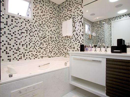 Ideias Para Banheiro Preto E Branco : Banheiro preto e branco estilos fotos