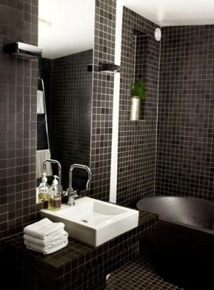 #300406 BANHEIRO PRETO E BRANCO 45 Estilos e Fotos 300x406 px Fotos De Banheiros Preto E Branco Simples 3822