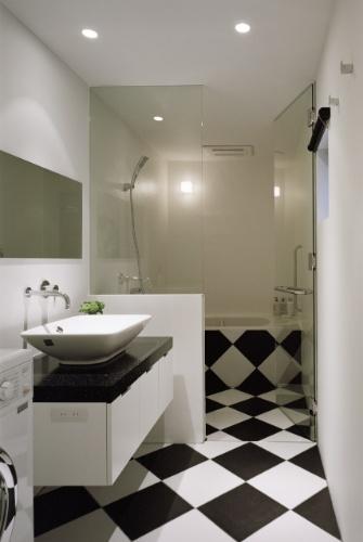 piso xadrez banheiro