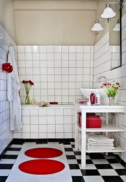 Banheiro preto e branco 45 estilos e fotos for Ideas para pisos pequenos fotos