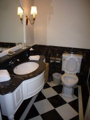 lavabo piso xadrez