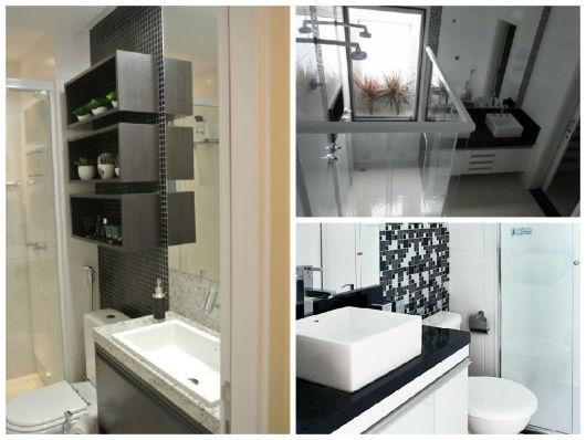modelos banheiro simples preto e branco