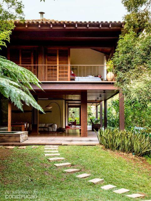 80 casas de madeira projetos modelos fotos e dicas for Piscinas ecologicas pequenas