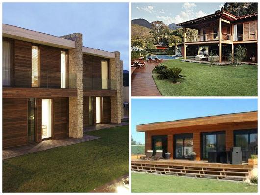 modelos casa madeira contemporânea