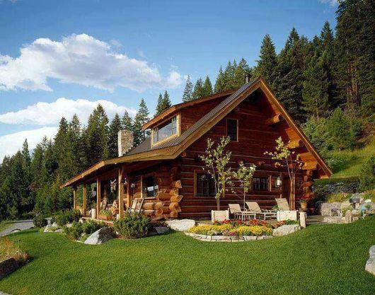 casa de campo madeira escura