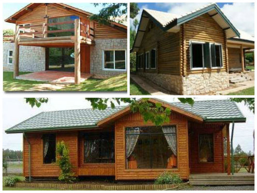 modelos casa madeira redonda