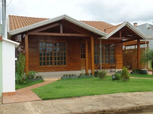 80 casas de madeira projetos modelos fotos e dicas - Casas de madera portugal ...