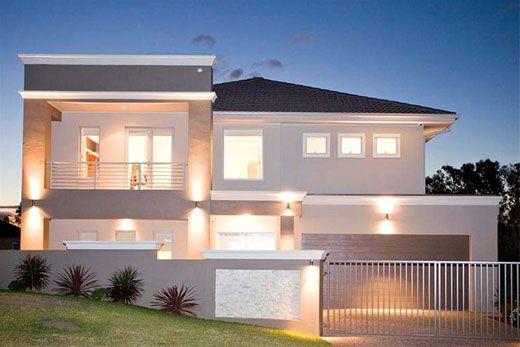 30 casas estilo americano fachadas e interiores for Fachadas de casas interiores