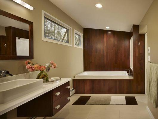 banheiro revestimento madeira