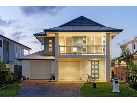 30 casas estilo americano fachadas e interiores for Los mejores techos de casas