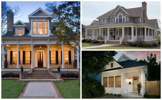 30 casas estilo americano fachadas e interiores for Fachada de casas modernas estilo oriental