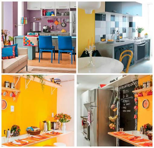 Projetos de cozinhas coloridas - que cor usar