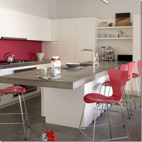 Dicas de cores de banquetas para cozinha clean moderna