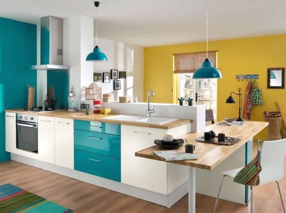 cores para cozinha 60 fotos e dicas de combina es. Black Bedroom Furniture Sets. Home Design Ideas