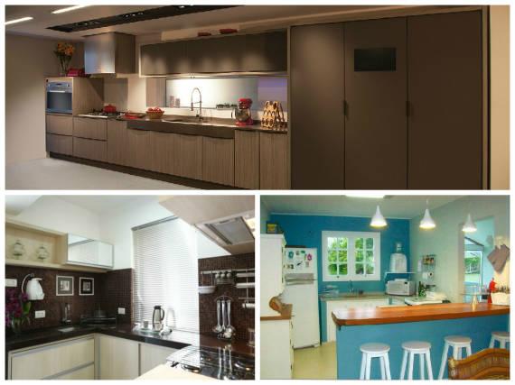 Ideias de cores para balcão e pedra da cozinha