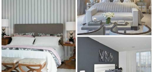 decoração cinza quarto