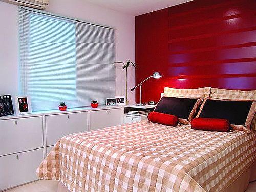 quarto parede vermelha