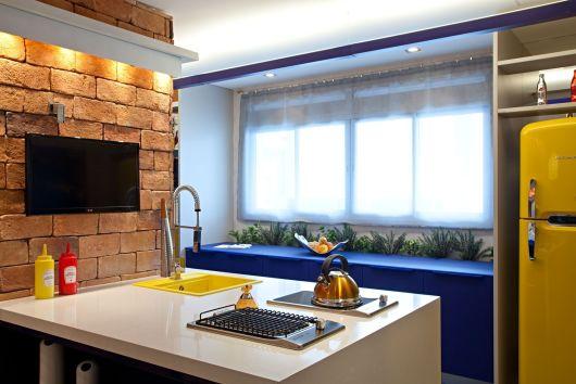 cozinha azul royal