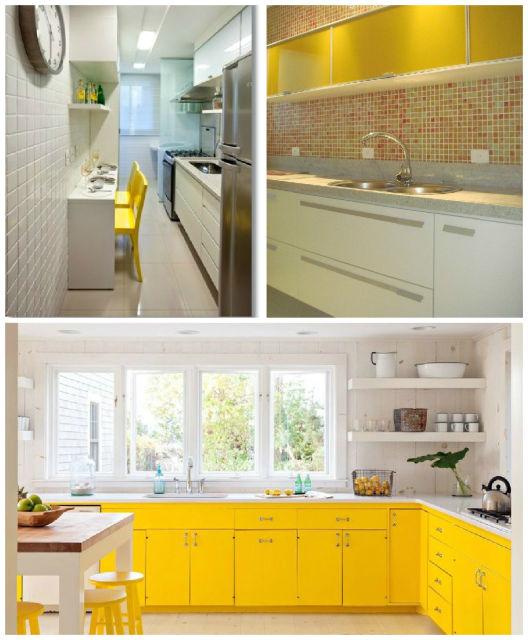 como usar amarelo na cozinha