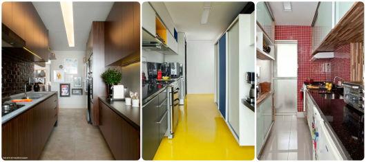 cores para cozinha corredor