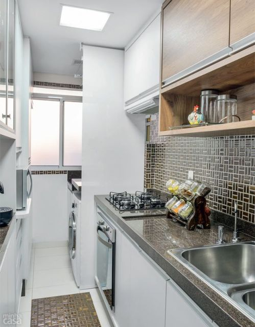 Cozinha corredor 25 projetos fotos e dicas for Cocinas super baratas