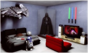 decoracao geek quarto star wars