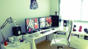 decoracao home office geek