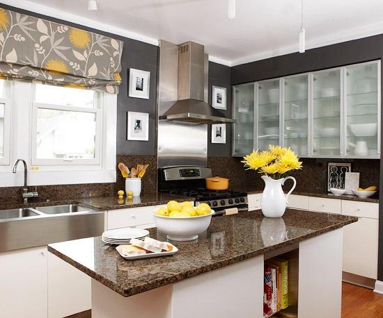 Fotos de cortinas para cozinha decorada