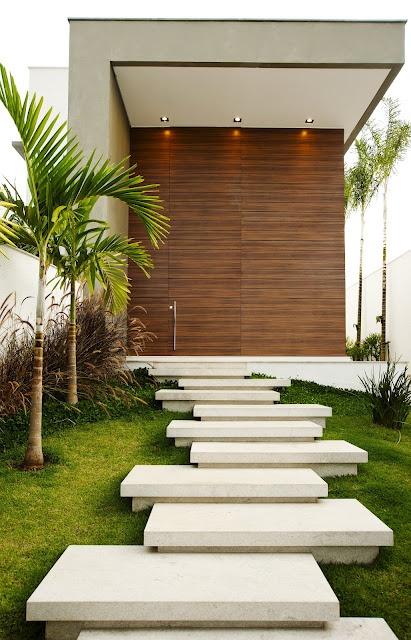 escada jardim madeira : escada jardim madeira:ESCADA DE GRANITO: 40 Modelos, Dicas, Cores!