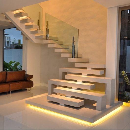 Escada de granito 40 modelos dicas cores for Escaleras kapnes