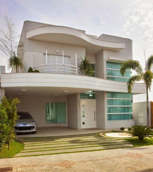 Fachadas de casas modernas 90 inspira es para se for Modelos de casas fachadas fotos