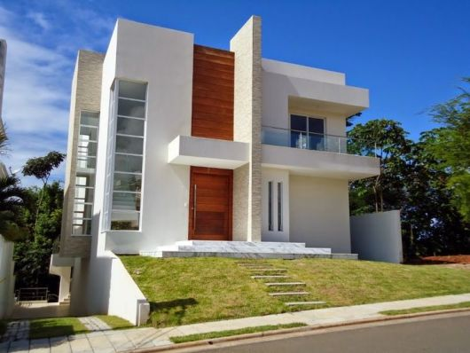 80 fachadas de casas modernas imperd vel - Entrada de casas modernas ...