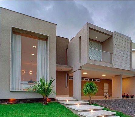 Fachadas de casas modernas 90 inspira es para se for Las mejores fachadas de las villas