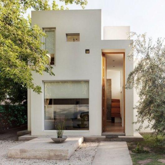 80 fachadas de casas modernas imperd vel for Casas angostas y largas interior